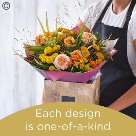 Autumn hand tied bouquet made with the finest flowers